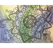 Water Color Mandala Painting Photographic Print