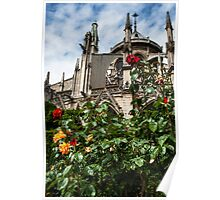 Flying Buttresses with Roses Poster