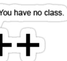 C++ v.s C   Programming language Sticker