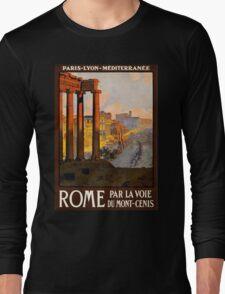 Vintage Travel Poster: Rome Long Sleeve T-Shirt