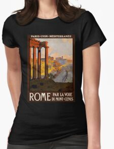Vintage Travel Poster: Rome Womens Fitted T-Shirt