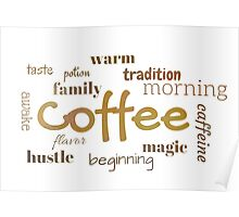 Coffee - Typography Print Poster