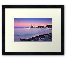 Pinky Beach Framed Print