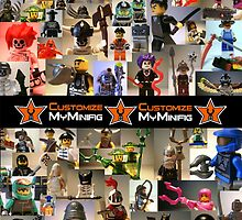 Customize My Minifig, Montage of LEGO® Custom Minifigs by Chillee