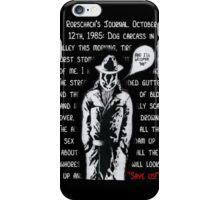 Rorschach's Journal iPhone Case/Skin