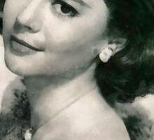 Natalie Wood by John Springfield Sticker