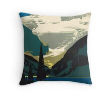 Vintage Travel Poster: Lake Louise Throw Pillow