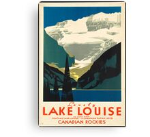 Vintage Travel Poster: Lake Louise Canvas Print