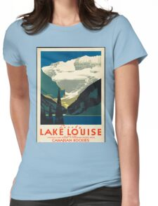 Vintage Travel Poster: Lake Louise Womens Fitted T-Shirt