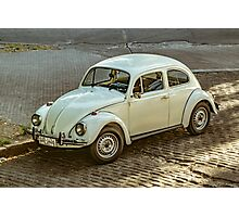Classic Volkswagen Beetle Car Parked on Street Photographic Print