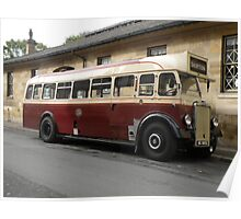 1930's Leyland Single Decker Bus Poster