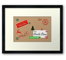 Elf Mail Framed Print