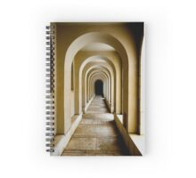 Endless corridor architecture abstract.  Spiral Notebook