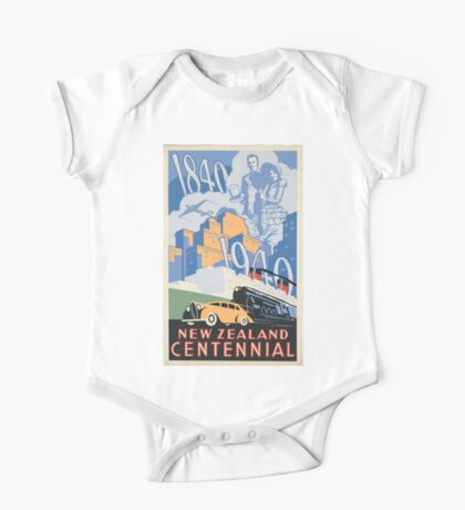Vintage poster - New Zealand One Piece - Short Sleeve