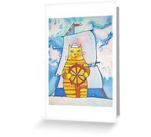 Mariner Cat Greeting Card