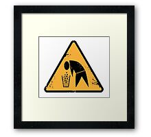 Groggy man Framed Print