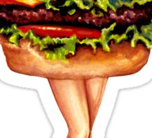 """Stacked"" - Cheeseburger Girl Sticker"