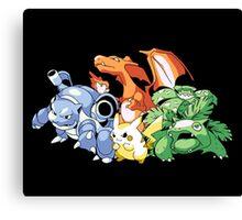 1st Generation Pokemon Canvas Print