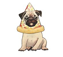 hawaiian pizza pug puppy by christinel