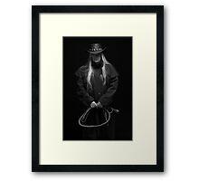 I Mean Business Framed Print