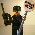 LEGO® City Classic Police Patrol Man Minifigure with Police Stop Sign, by 'Customize My Minifig' by Chillee