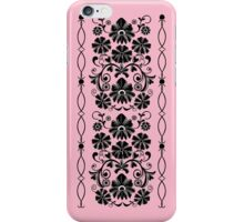 Retro damask floral case iPhone Case/Skin
