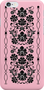 Retro damask floral case by walstraasart