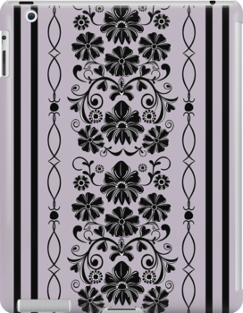 Retro damask, floral, patterns case by walstraasart
