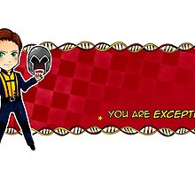 You are exceptional! (Mutant Mug: Erik) by arisupaints