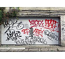 Urban Scrawl Photographic Print