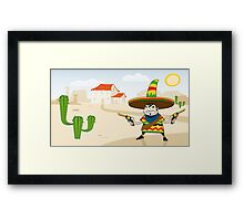 Crazy Mexican Framed Print