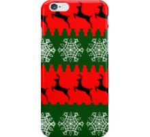 Ugly sweater festive design iPhone Case/Skin
