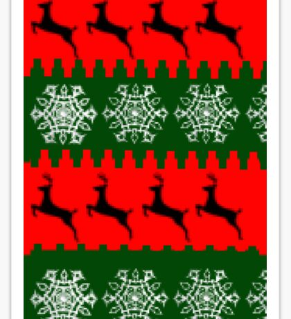 Ugly sweater festive design Sticker