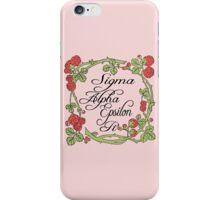 Sigma Alpha Epsilon Pi Floral Border #2 iPhone Case/Skin