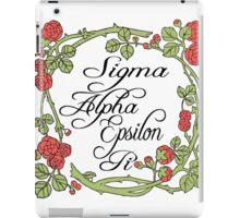 Sigma Alpha Epsilon Pi Floral Border #2 iPad Case/Skin