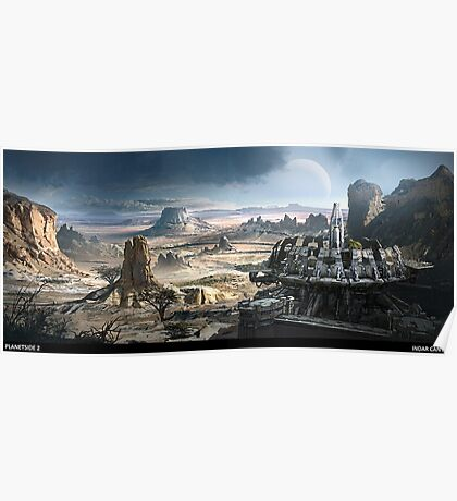 Planetside 2 - Scenery - Indar Canyon Poster