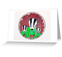 Badger Family Christmas Greeting Card