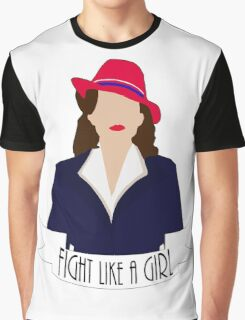 """P. Carter: """"Fight like a Girl."""" Graphic T-Shirt"""
