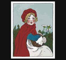 Little Red Riding Hood Painting Baby Tee