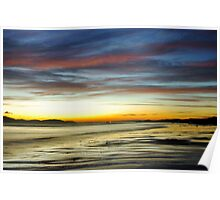 Seamill Beach at Sunset Poster