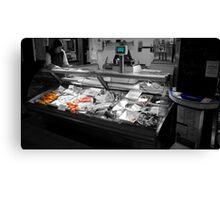 Fish Stall Canvas Print