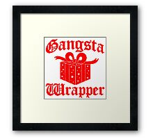 Gangsta Wrapper Framed Print