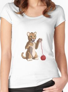 Playful cougar Women's Fitted Scoop T-Shirt