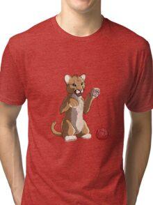 Playful cougar Tri-blend T-Shirt