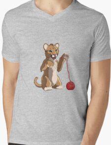 Playful cougar Mens V-Neck T-Shirt