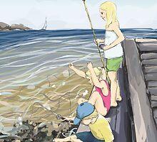 Donsö crab fishers by Rebecca Landmér
