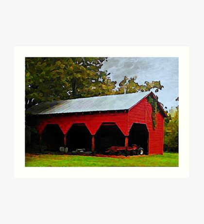 Red Shed - A Watercolor Art Print