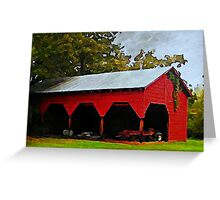 Red Shed - A Watercolor Greeting Card