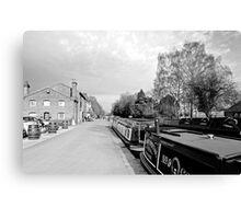 Boats at Fradley Junction  Canvas Print
