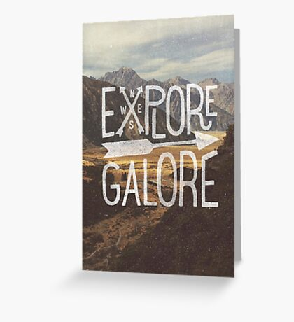 Explore Galore Greeting Card